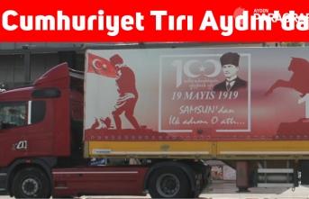 Cumhuriyet Tırı Aydın'da