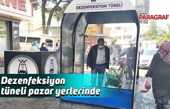 Dezenfeksiyon tüneli pazar yerlerinde