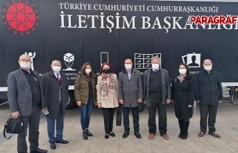 AGC Başkanı Şener ve yönetimi Dijital Tır'ı ziyaret etti