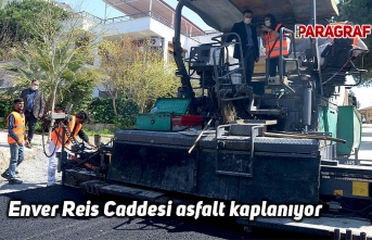 Enver Reis Caddesi asfalt kaplanıyor