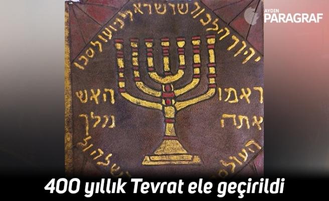400 yıllık Tevrat ele geçirildi