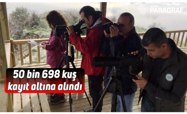 50 bin 698 kuş kayıt altına alındı