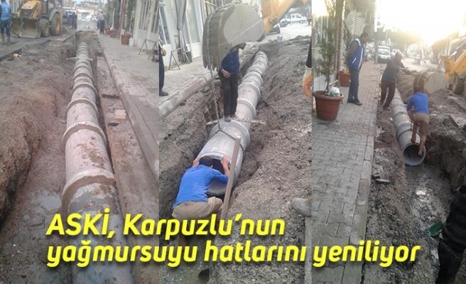 ASKİ, Karpuzlu'nun yağmursuyu hatlarını yeniliyor