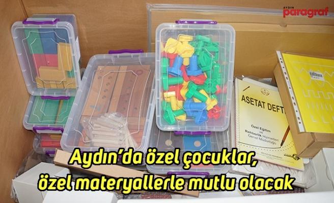 Aydın'da özel çocuklar, özel materyallerle mutlu olacak