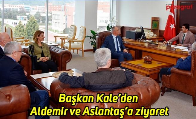 Başkan Kale'den Aldemir ve Aslantaş'a ziyaret