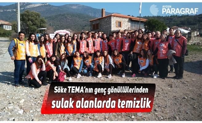 Söke TEMA'nın genç gönüllülerinden sulak alanlarda temizlik