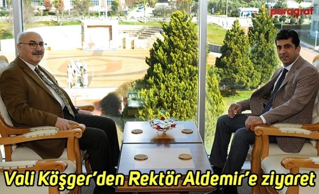 Vali Yavuz Selim Köşger'den Rektör Aldemir'e ziyaret