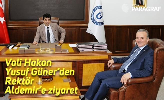 Vali Hakan Yusuf Güner'den Rektör Aldemir'e ziyaret