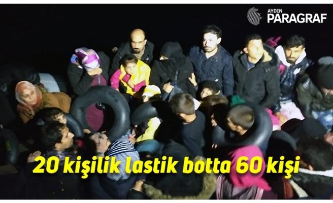 20 kişilik lastik botta 60 kişi