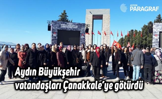 Aydın Büyükşehir vatandaşları Çanakkale'ye götürdü