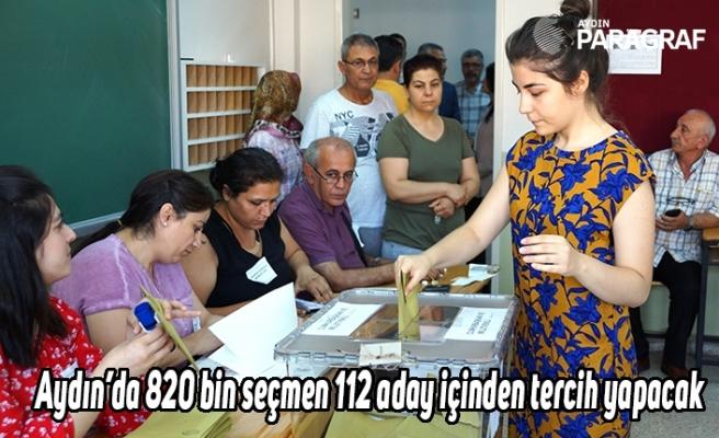 Aydın'da 820 bin seçmen 112 aday içinden tercih yapacak