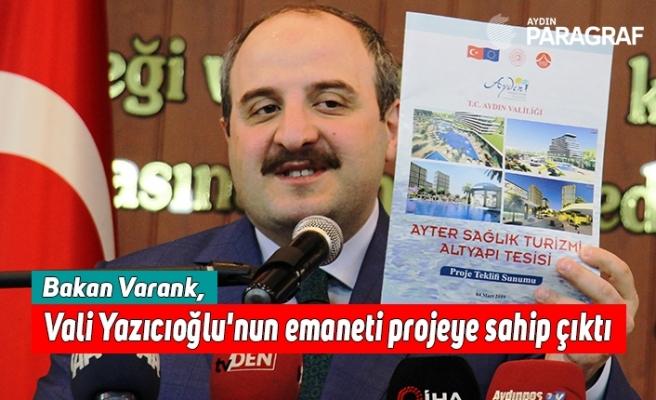 Bakan Varank, Vali Yazıcıoğlu'nun emaneti projeye sahip çıktı