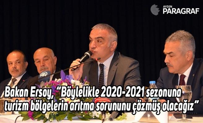 """Bakan Ersoy, """"Böylelikle 2020-2021 sezonuna turizm bölgelerin arıtma sorununu çözmüş olacağız"""""""