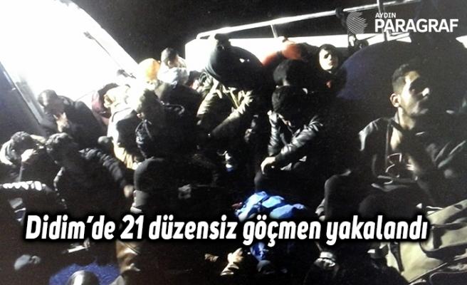 Didim'de 21 düzensiz göçmen yakalandı