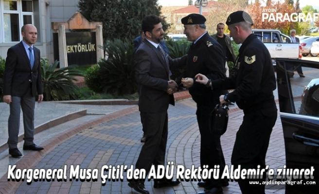 Korgeneral Musa Çitil'den ADÜ Rektörü Aldemir'e ziyaret