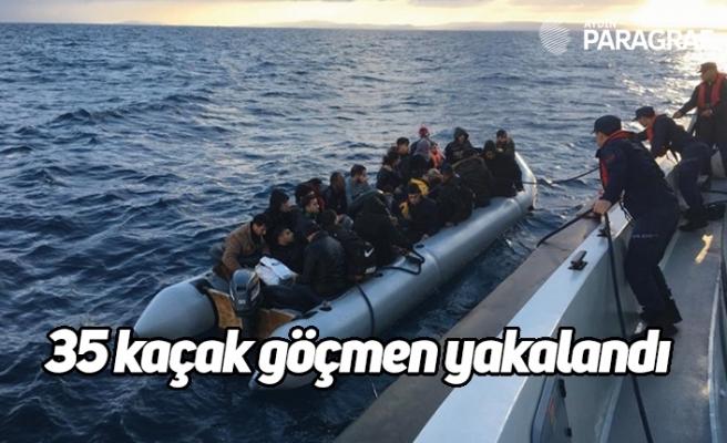 35 kaçak göçmen yakalandı