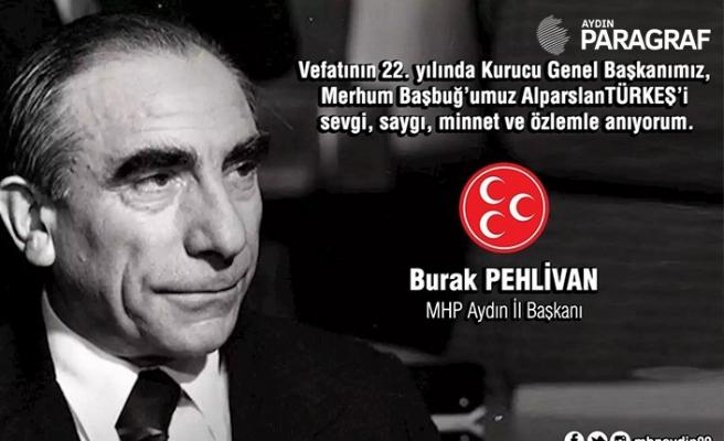 Aydın MHP, Başbuğ Alparslan Türkeş'i andı