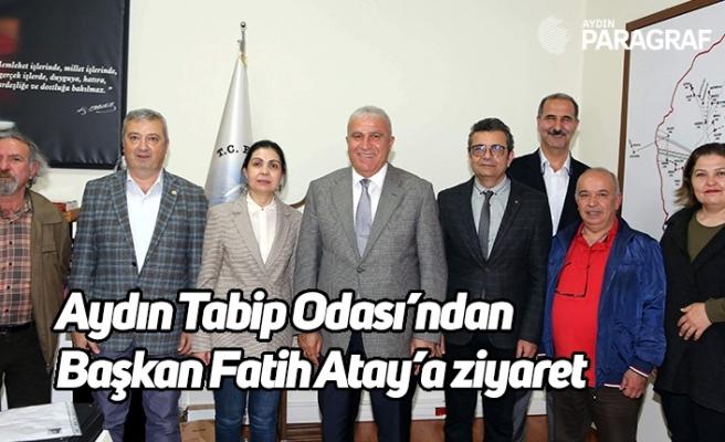 Aydın Tabip Odası'ndan Başkan Fatih Atay'a ziyaret