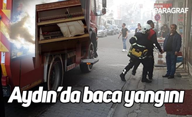Aydın'da baca yangını