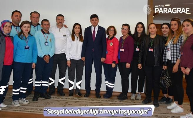"""Başkan Özcan; """"Sosyal belediyeciliği zirveye taşıyacağız"""""""