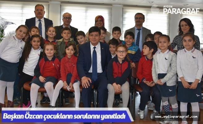 Başkan Özcan çocukların sorularını yanıtladı