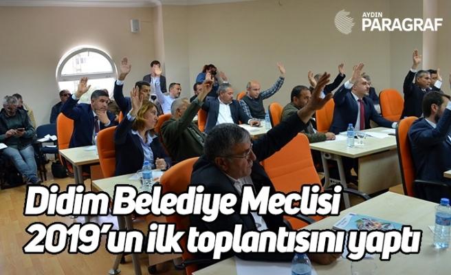 Didim Belediye Meclisi 2019'un ilk toplantısını yaptı