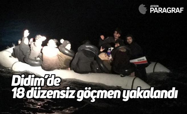 Didim'de 18 düzensiz göçmen yakalandı