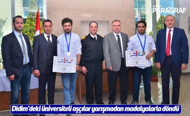 Didim'deki üniversiteli aşçılar yarışmadan madalyalarla döndü
