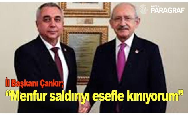 """İl Başkanı Çankır; """"Menfur saldırıyı esefle kınıyorum"""""""