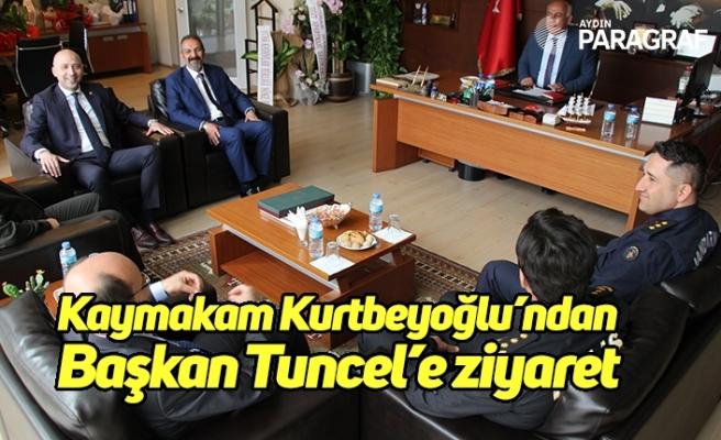 Kaymakamı Tahsin Kurtbeyoğlu'ndan Başkan Tuncel'e ziyaret
