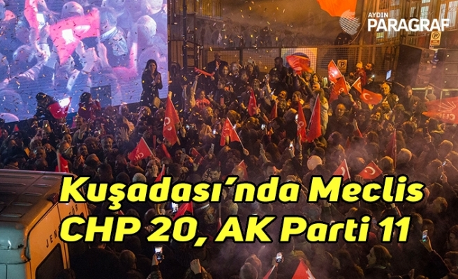 Kuşadası'nda CHP 20, AK Parti 11 belediye meclis üyeliği kazandı