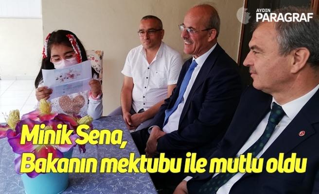 Minik Sena, Bakanın mektubu ile mutlu oldu