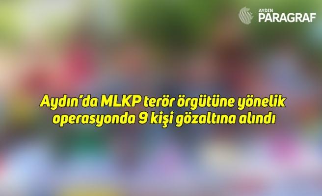 Aydın'da MLKP terör örgütüne yönelik operasyonda 9 kişi gözaltına alındı