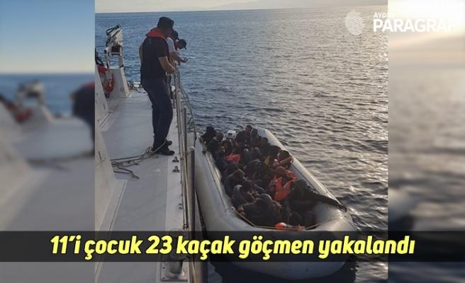 11'i çocuk 23 kaçak göçmen yakalandı