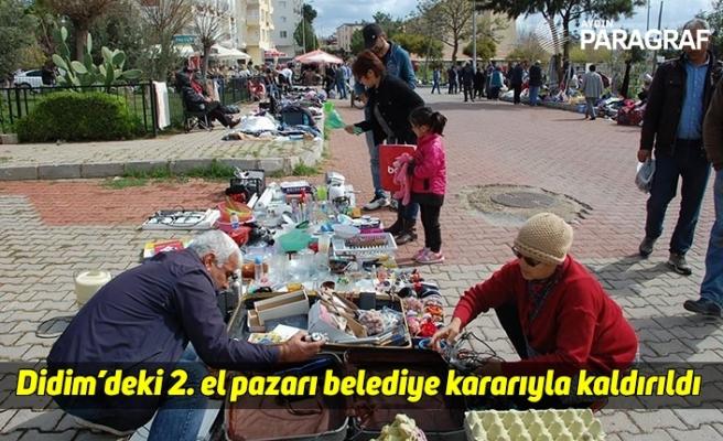 Didim'deki 2. el pazarı belediye kararıyla kaldırıldı