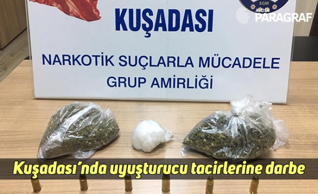 Kuşadası'nda uyuşturucu tacirlerine darbe