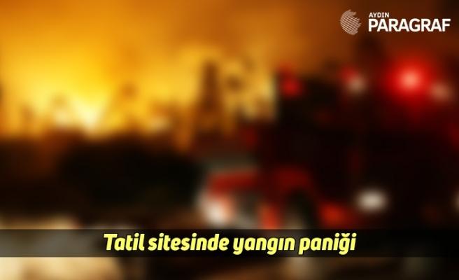 Tatil sitesinde yangın paniği