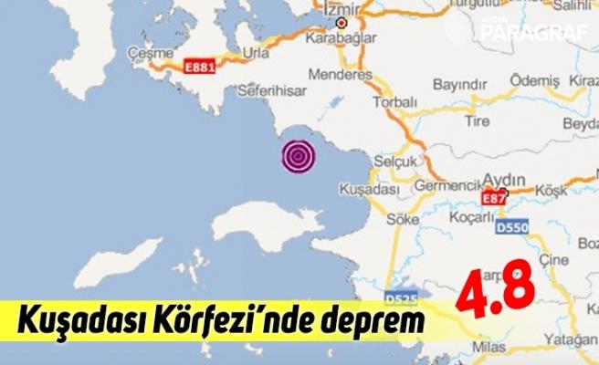 Kuşadası körfezinde deprem