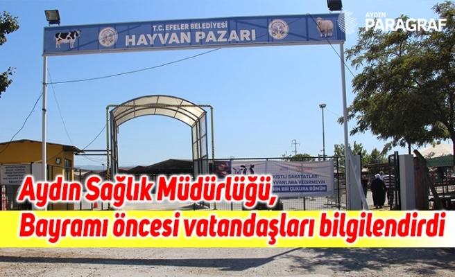Aydın Sağlık Müdürlüğü, Kurban Bayramı öncesi vatandaşları bilgilendirdi