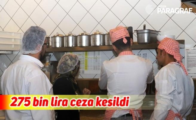 Aydın'da 30 gıda işletmesine 275 bin lira ceza kesildi