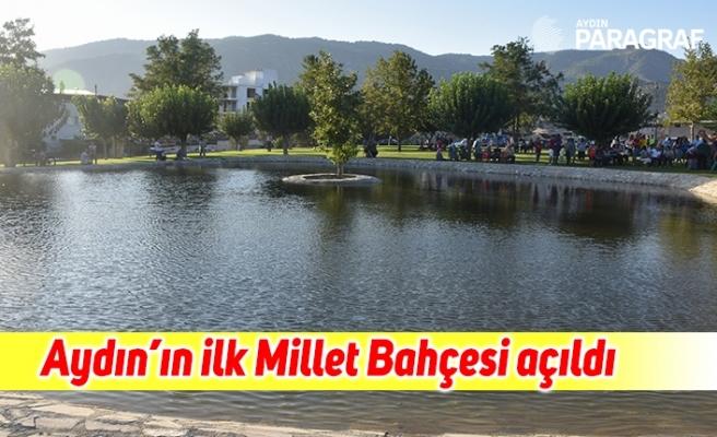 Aydın'ın ilk Millet Bahçesi, Vali Köşger tarafından açıldı