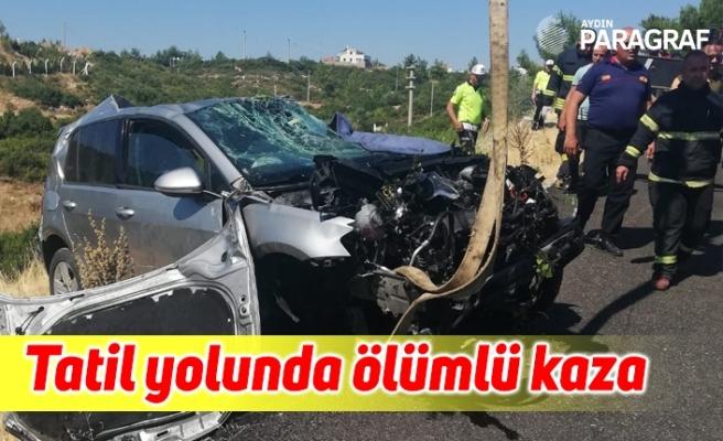 Tatil yolunda ölümlü kaza