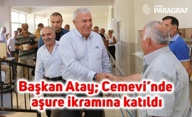 Başkan Atay; Çeştepe Cemevi'nde aşure ikramına katıldı