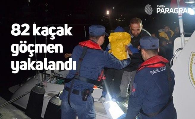82 kaçak göçmen yakalandı