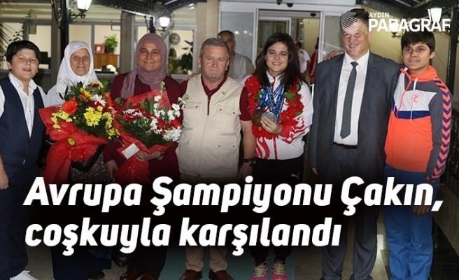 Avrupa Şampiyonu Ayşegül Çakın, memleketinde coşkuyla karşılandı