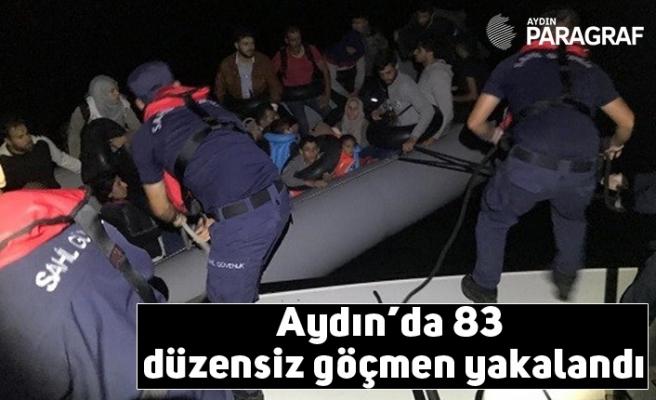 Aydın'da 83 düzensiz göçmen yakalandı