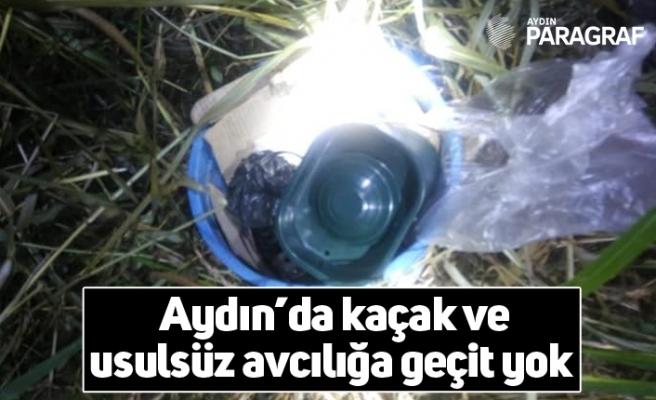 Aydın'da kaçak ve usulsüz avcılığa geçit yok