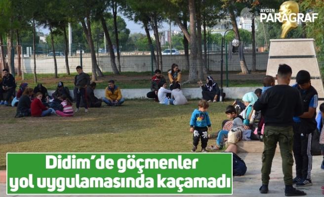 Didim'de göçmenler yol uygulamasında kaçamadı