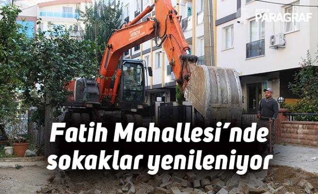 Fatih Mahallesi'nde sokaklar yenileniyor