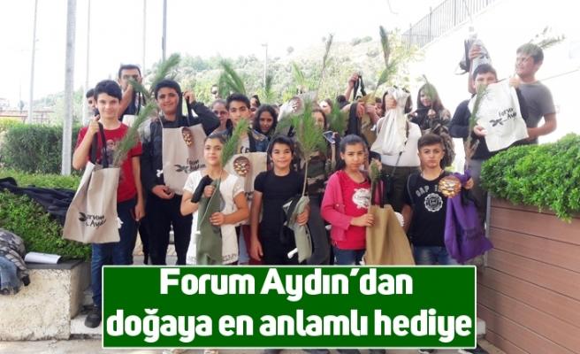 Forum Aydın'dan doğaya en anlamlı hediye